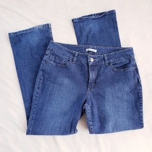 Lee Riders Mid Rise Bootcut Denim Blue Jeans